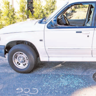On Day Street, one of the more than 40 vehicles that were vandalized last week.