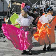 Young Folklorico dancers strut their stuff!