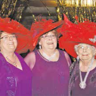 Ladies of the Red Hat Society put on the glam!