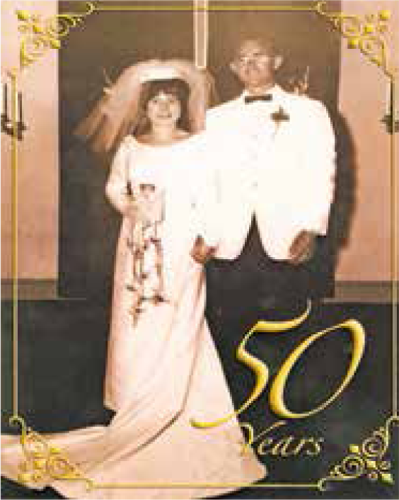 The Scheus on their wedding day.