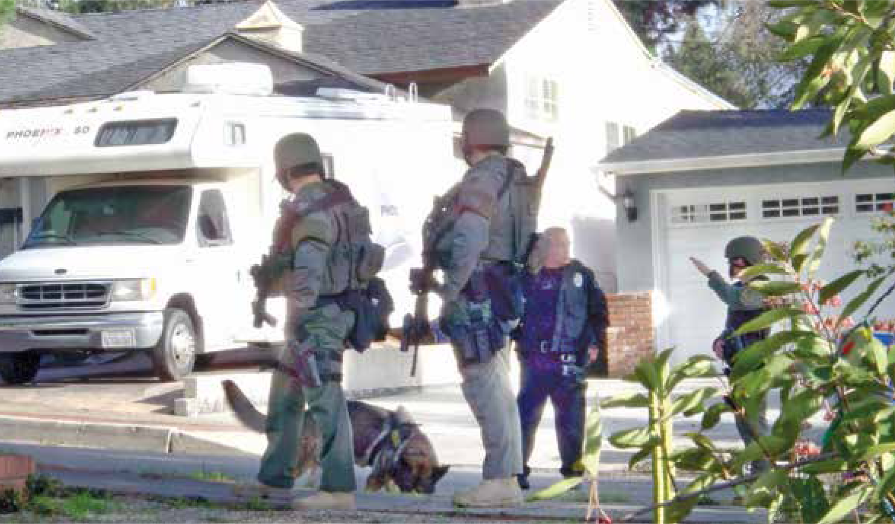 SWAT and K-9 Teams searching Cabanas St.