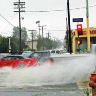 Some people speed through street puddles just to see the water shoot up, which is not safe driving.