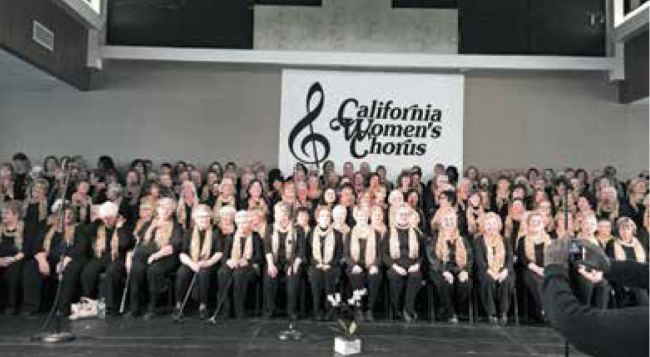 The California Women's Chorus gets ready for next week's concert!