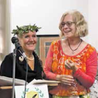 Elsa Frausto presents the Laurel to Poet Pamela Shea