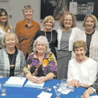 Standing: Mary Beth Perine, Danielle Barrios, Easy Delaney Marie Baker, Ginney Pruitt and Judi McClure. Seated: Caryl Petit, Jeanna Long, Joan Cleven and Carolyn Geer.