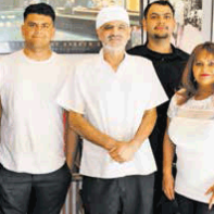 Homemade happiness made to order by the Sweet Cherries crew: (l to r) Carlos, Rudy, Desi, Mike, Ludy and Misael.
