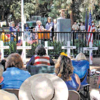 More than 150 people attended last year's Memorial Day Service at Sunland Park last year.