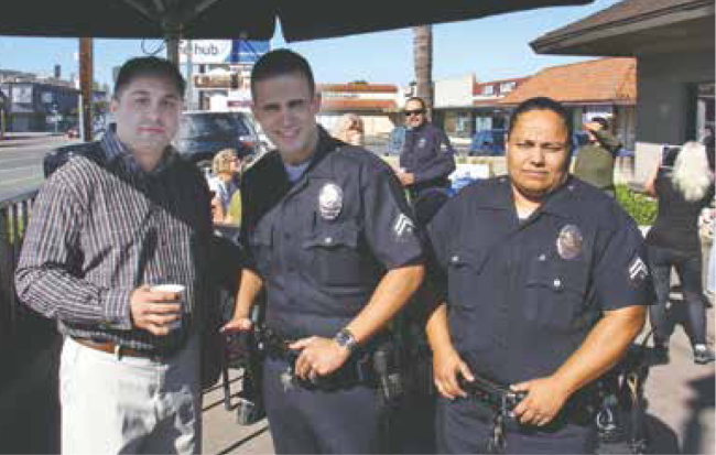 Arnie and cops.