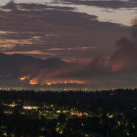 Los Angeles, California September 2, 2017:  La Tuna wildfire