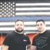 SFC Head Coach Hovic Tadevosyan and GPD Officer Edgar Zabunyan with the new mural honoring Law Enforcement in America.