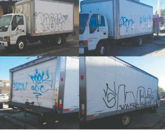 THE DONATIONS TRUCK for Hope for Homeless Youth has been hit hard by thieves and taggers, they seek a secure location to park.